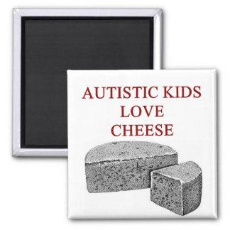 autism awareness design what autistic kids love 2 inch square magnet