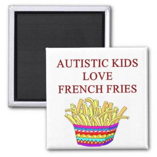 autism awareness design what autistic kids love magnet