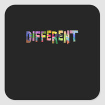 Autism Awareness Different Autism Awareness Square Sticker