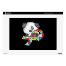 """AUtism Awareness Dog 15"""" Laptop Skin"""