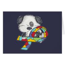 AUtism Awareness Dog Card