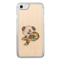 AUtism Awareness Dog Carved iPhone 7 Case