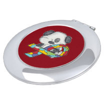 AUtism Awareness Dog Compact Mirror