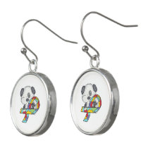 AUtism Awareness Dog Earrings