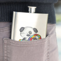 Autism Awareness Dog Flask