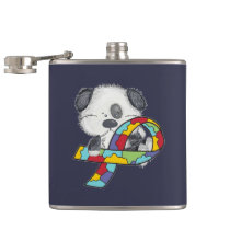 Autism Awareness Dog Hip Flask