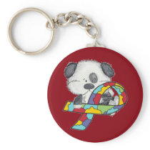 AUtism Awareness Dog Keychain