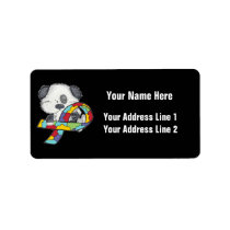 AUtism Awareness Dog Label