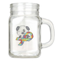 Autism Awareness Dog Mason Jar