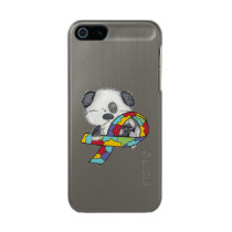AUtism Awareness Dog Metallic Phone Case For iPhone SE/5/5s