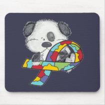AUtism Awareness Dog Mouse Pad