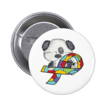 AUtism Awareness Dog Pinback Button