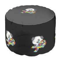AUtism Awareness Dog Pouf