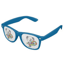 AUtism Awareness Dog Retro Sunglasses