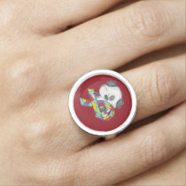 AUtism Awareness Dog Rings