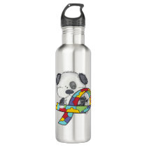 Autism Awareness Dog Stainless Steel Water Bottle