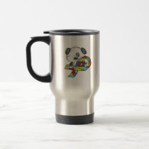 Autism Awareness Dog Travel Mug