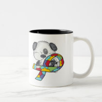 Autism Awareness Dog Two-Tone Coffee Mug