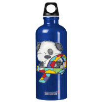 Autism Awareness Dog Water Bottle