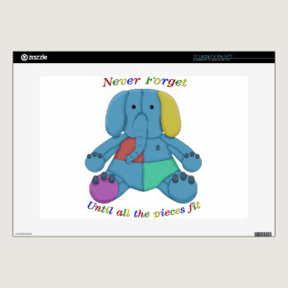"Autism Awareness Elephant Decal For 15"" Laptop"