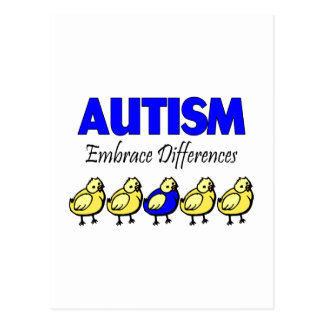 Autism Awareness Embrace Differences Postcard