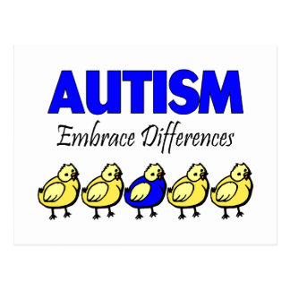 Autism Awareness Embrace Differences Postcard