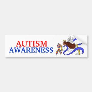 Autism Awareness Ethnic Angel Bumper Sticker