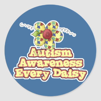 Autism Awareness Every Daisy (Day) Classic Round Sticker