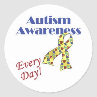 Autism Awareness Every Day Classic Round Sticker