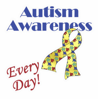 Autism Awareness Every Day Standing Photo Sculpture