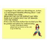 Autism Awareness Explanation Cards - Customized Business Card
