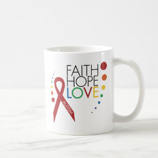 Autism Awareness - Faith, Hope, Love Coffee Mug