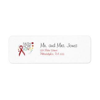 Autism Awareness - Faith, Hope, Love Label