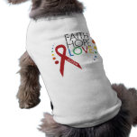 Autism Awareness - Faith, Hope, Love Pet T-shirt