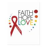Autism Awareness - Faith, Hope, Love Post Cards