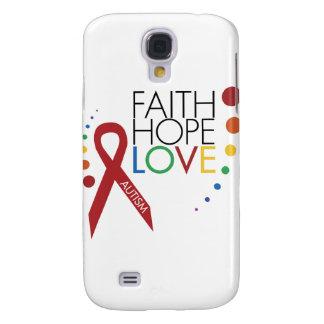 Autism Awareness - Faith, Hope, Love Samsung Galaxy S4 Case