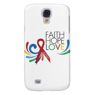Autism Awareness - Faith, Hope, Love Samsung Galaxy S4 Covers