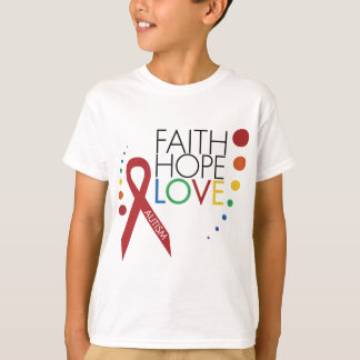 Autism Awareness - Faith, Hope, Love T-Shirt