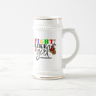 Autism Awareness Fight Like a Girl Coffee Mug