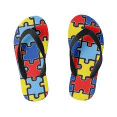 Autism Awareness Flip-flops Kid's Flip Flops at Zazzle