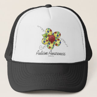 Autism Awareness Flower Trucker Hat