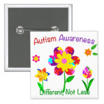 Autism Awareness Flowers 2 Inch Square Button