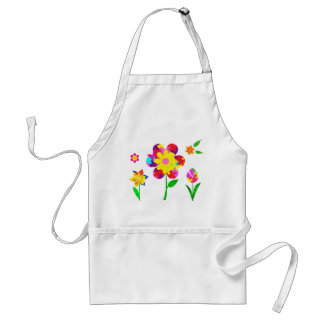 Autism Awareness Flowers Adult Apron