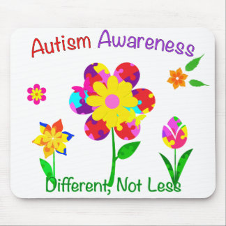 Autism Awareness Flowers Mouse Pad