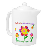Autism Awareness Flowers Teapot