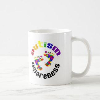 Autism Awareness Footprints Mug