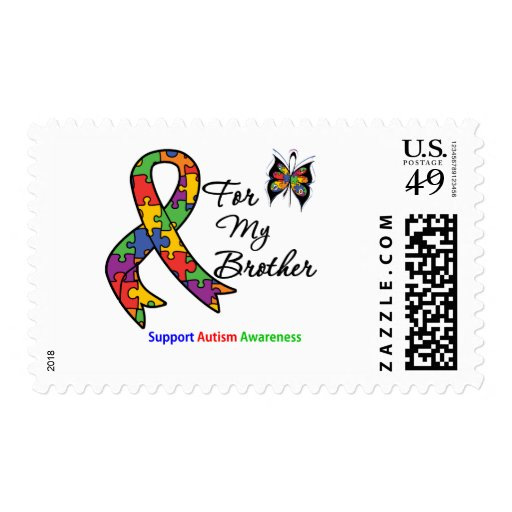 Autism Awareness For My Brother Postage Stamps