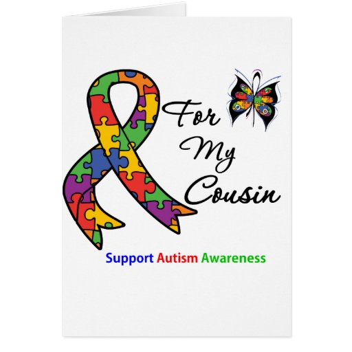 Autism Awareness For My Cousin Greeting Card