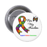 Autism Awareness For My Grandson 2 Inch Round Button