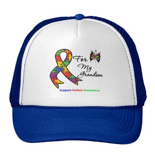 Autism Awareness For My Grandson Trucker Hats
